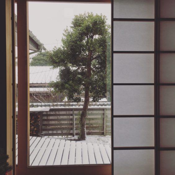 吉村障子と雪景色