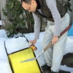 雪かきに シリコンスプレー