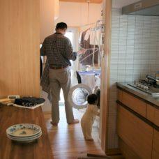 キッチン隣 洗濯スペース