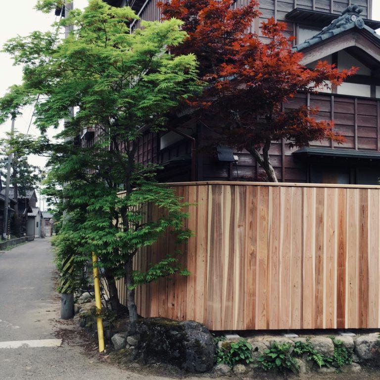 塀垣 改修 杉板