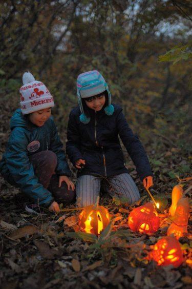 かぼちゃランタンで こびとの村づくり点灯会
