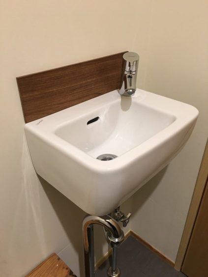 ランプリールのトイレの手洗い