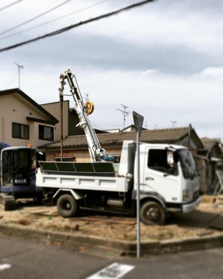 坂井東の家 砕石パイル施工