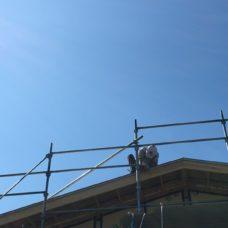 屋根の板金作業