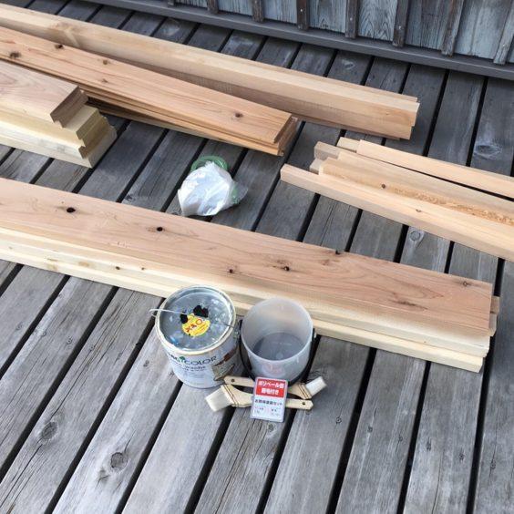 自然塗料と塗装準備