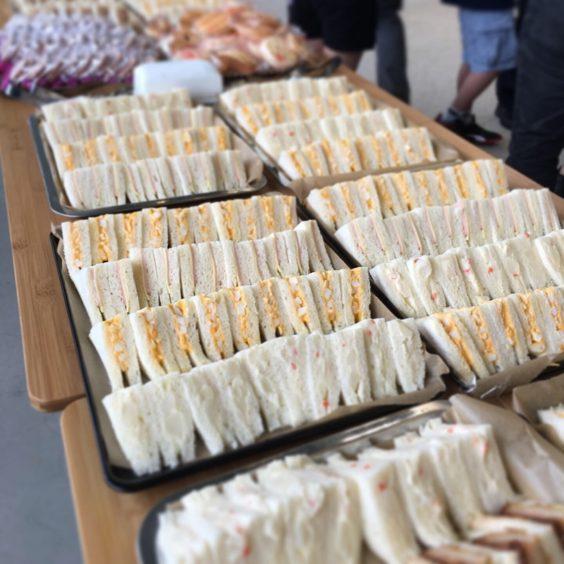 スノーピークミュージアム レセプションパーティーのサンドイッチ
