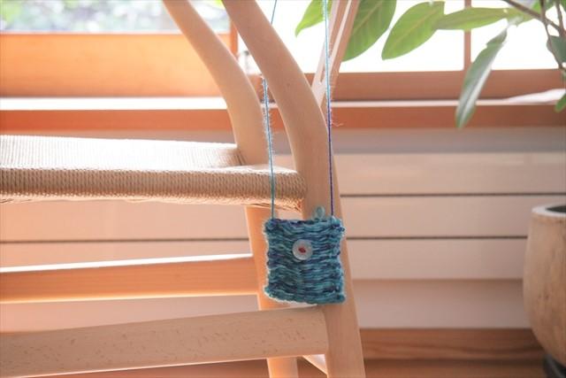織り機でポシェット