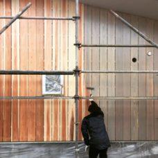 小杉のまちなか山荘 住まい手による外壁塗装