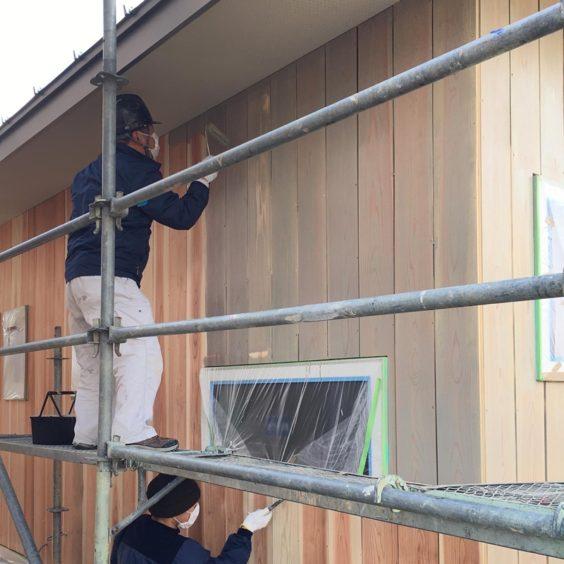 小杉のまちなか山荘 杉板外壁塗装