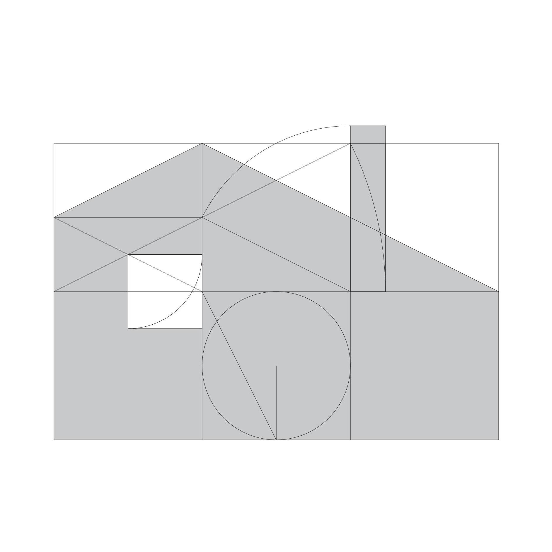 手描きを幾何学で理由づけ